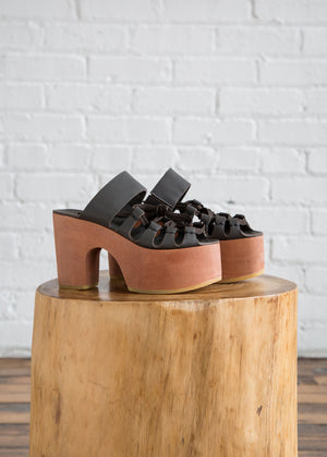 Everson Lace-Up Platform in Graphite - SOLD OUT