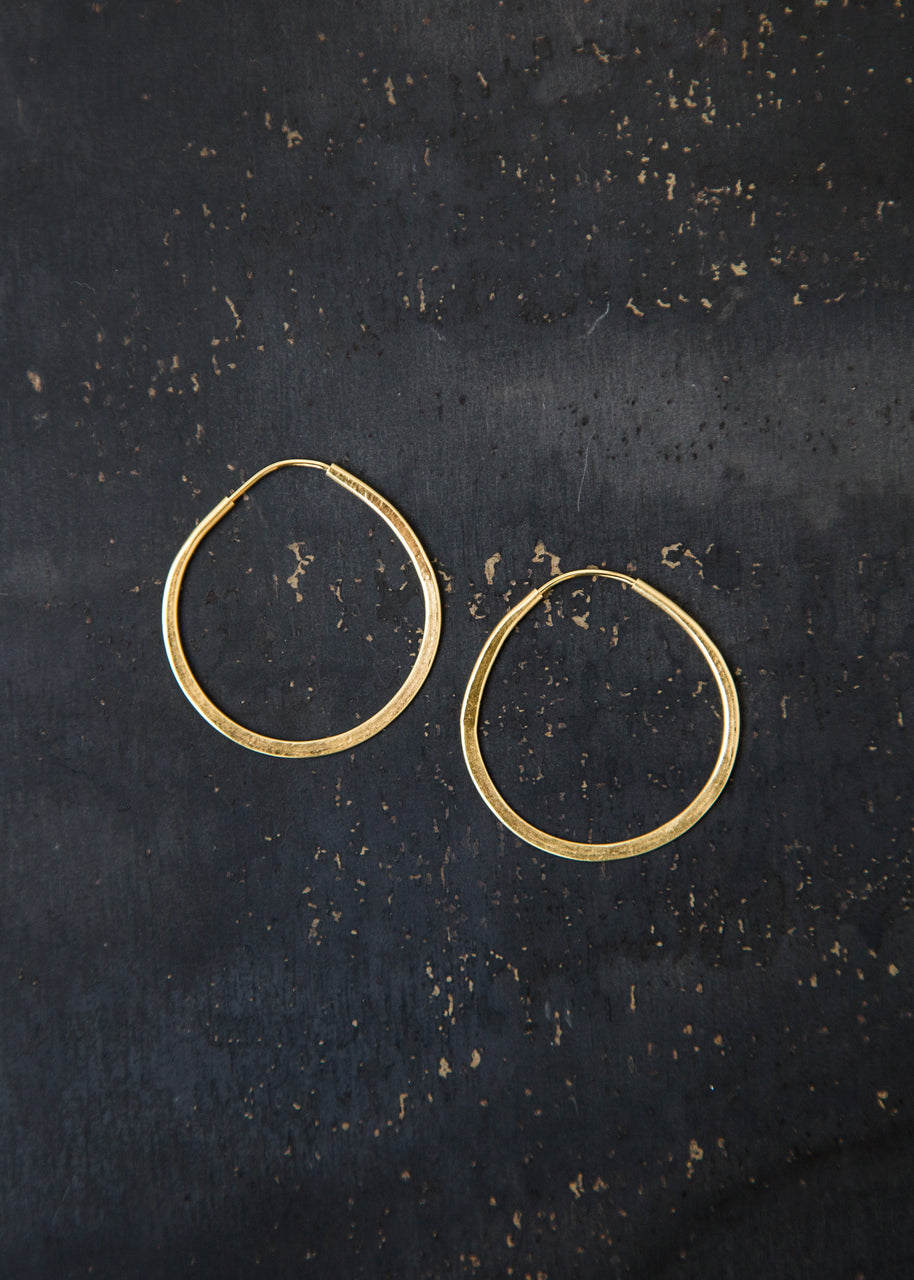 Small Circle Hoops in Gold