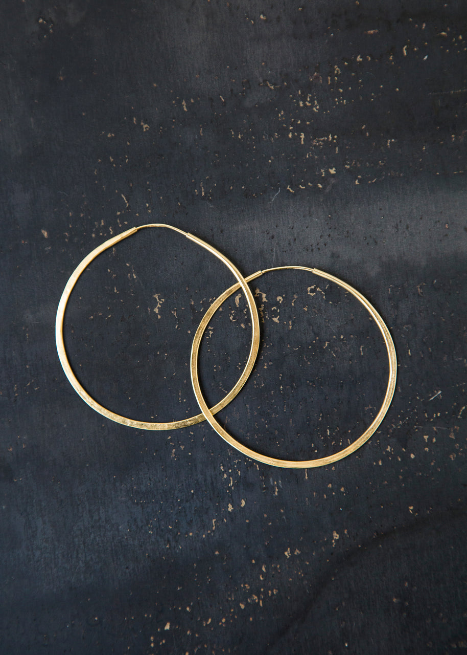 Large Circle Hoops in Gold