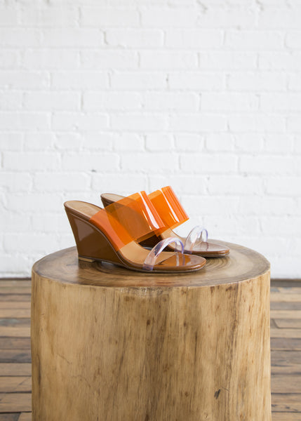 Maryam Nassir Zadeh Olympia Wedge Bark/Orange