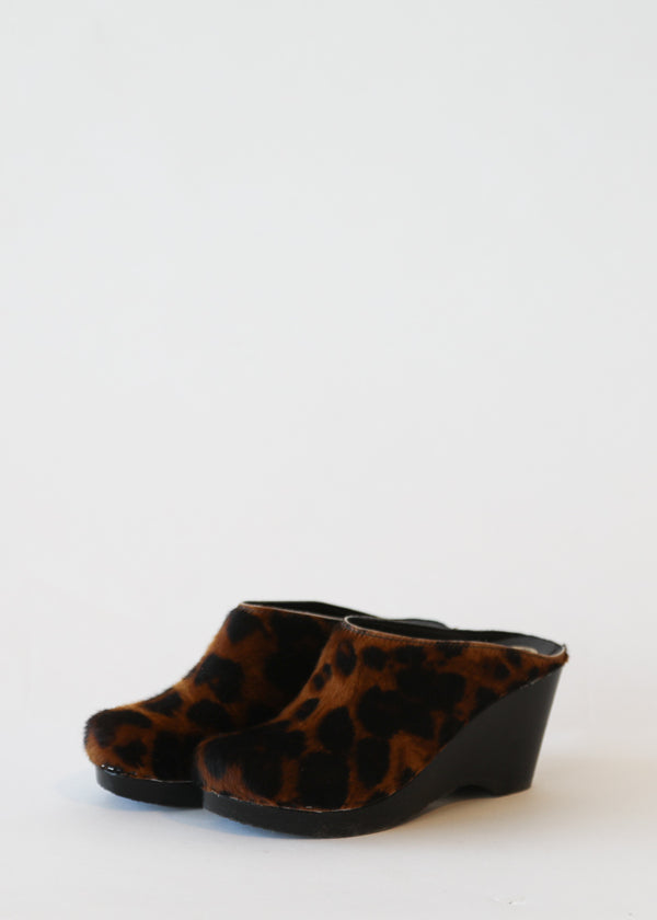 No. 6 New School Clog in Luxe Leopard