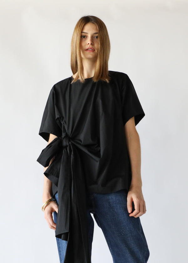 Knot Blouse in Black