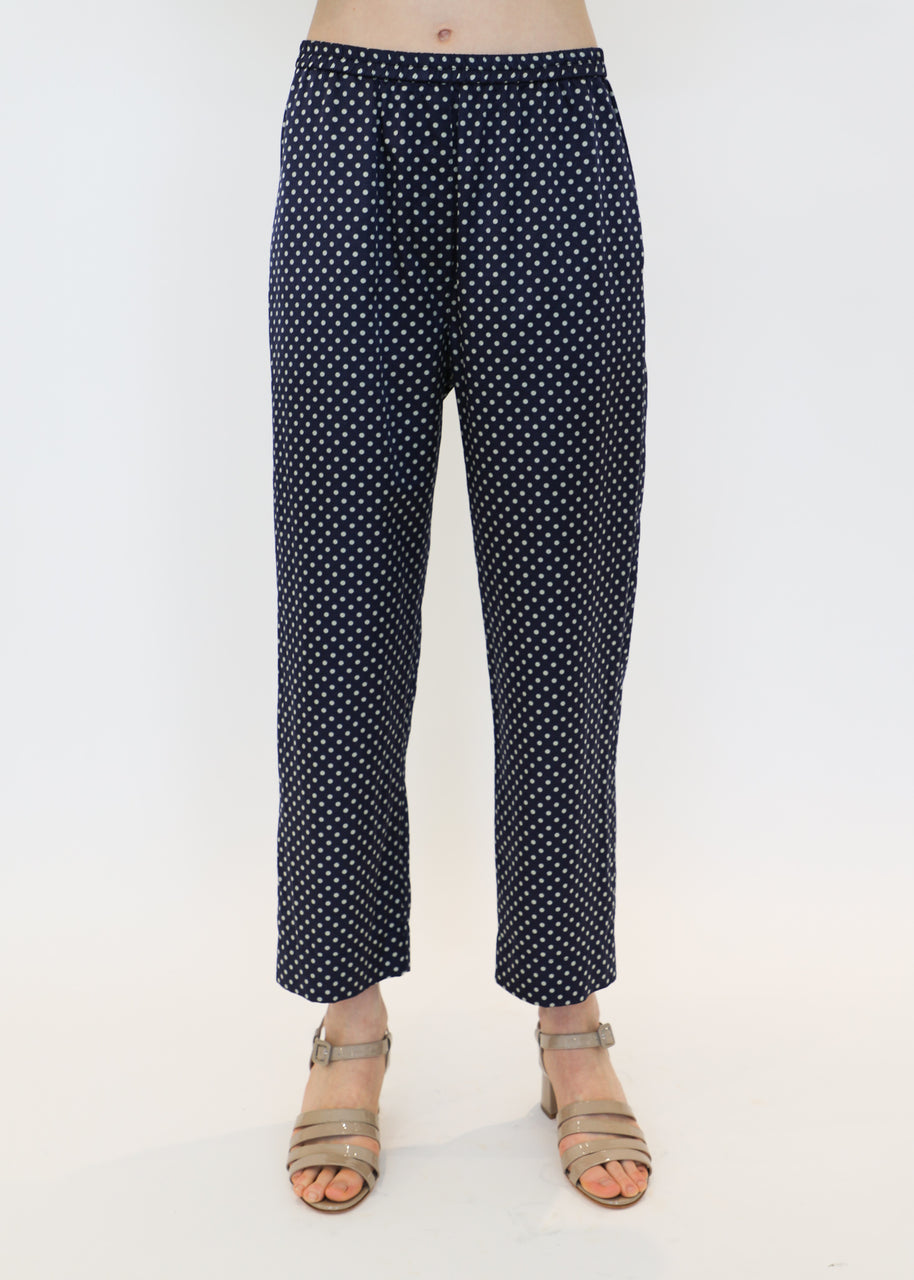 Ankle Pant in Navy/Mint