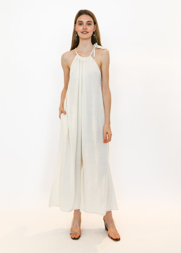 Draw Jumpsuit in White