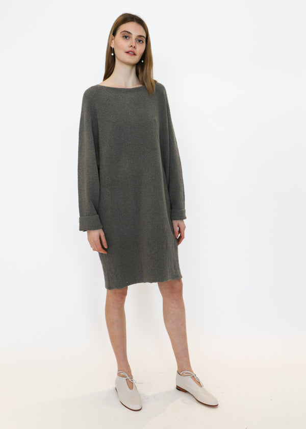 Horizontal Trapezoid Dress in Pumice