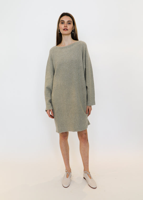 Horizontal Trapezoid Dress in Granite