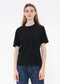 Round Neck T Shirt in Black
