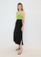 Button Front Maxi Skirt in Black