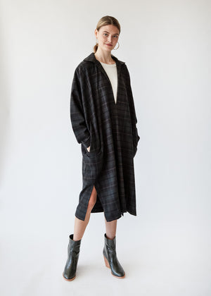 Winter Kaftan in Brown Plaid - SOLD OUT