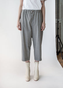 Baggy Pant in Grey Mini Houndstooth - SOLD OUT