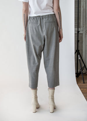 Baggy Pant in Grey Mini Houndstooth