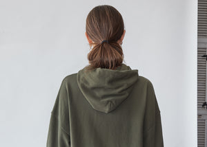 California Hoodie in Army Green