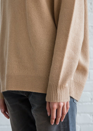 6397 Men's V Neck Sweater Camel