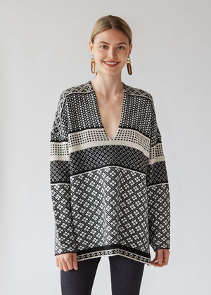 Poncho in Black/White - SOLD OUT