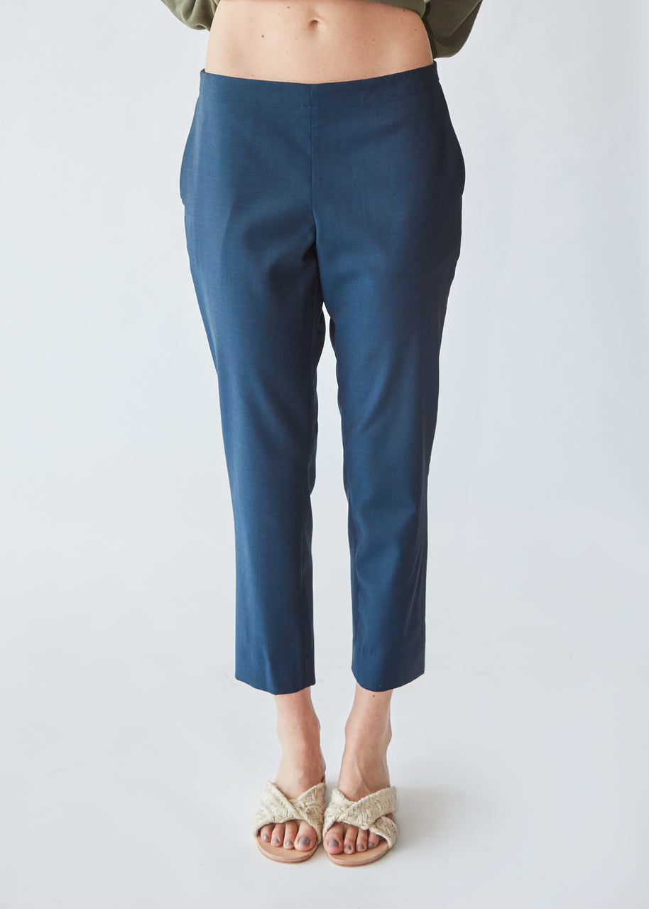 Pull On Trouser in Blue