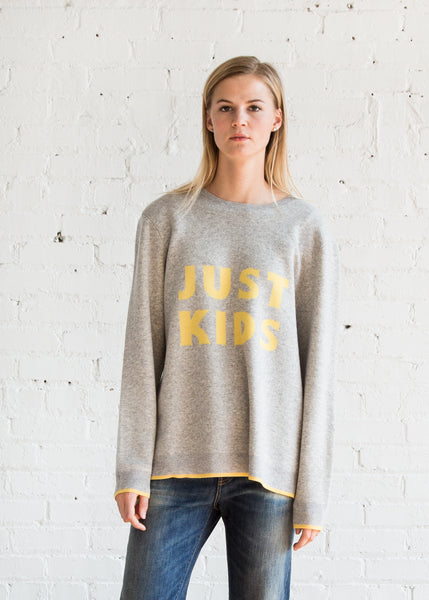 6397 Kids Crewneck Grey/Yellow
