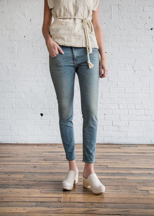 Mini Skinny in Worker Wash