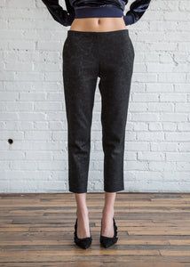 6397 Pull On Trouser Black Jacquard