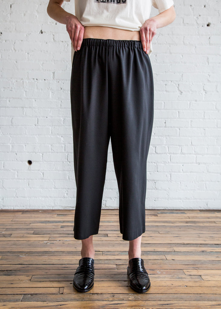 6397 Wide Leg Pull On Pant Black/Tropical