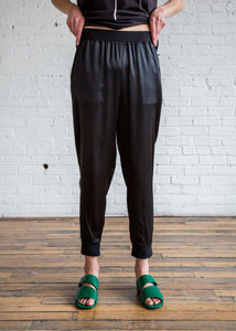 6397 Silk Sweatpants Black/Silk