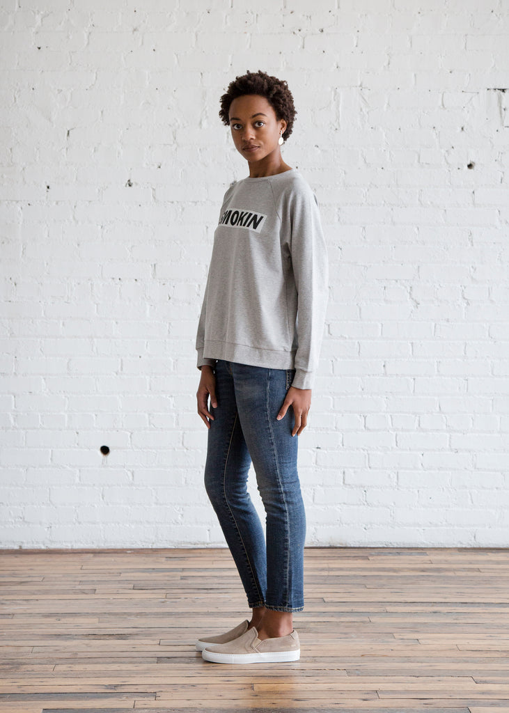 6397 Smokin Sweatshirt Heather Grey