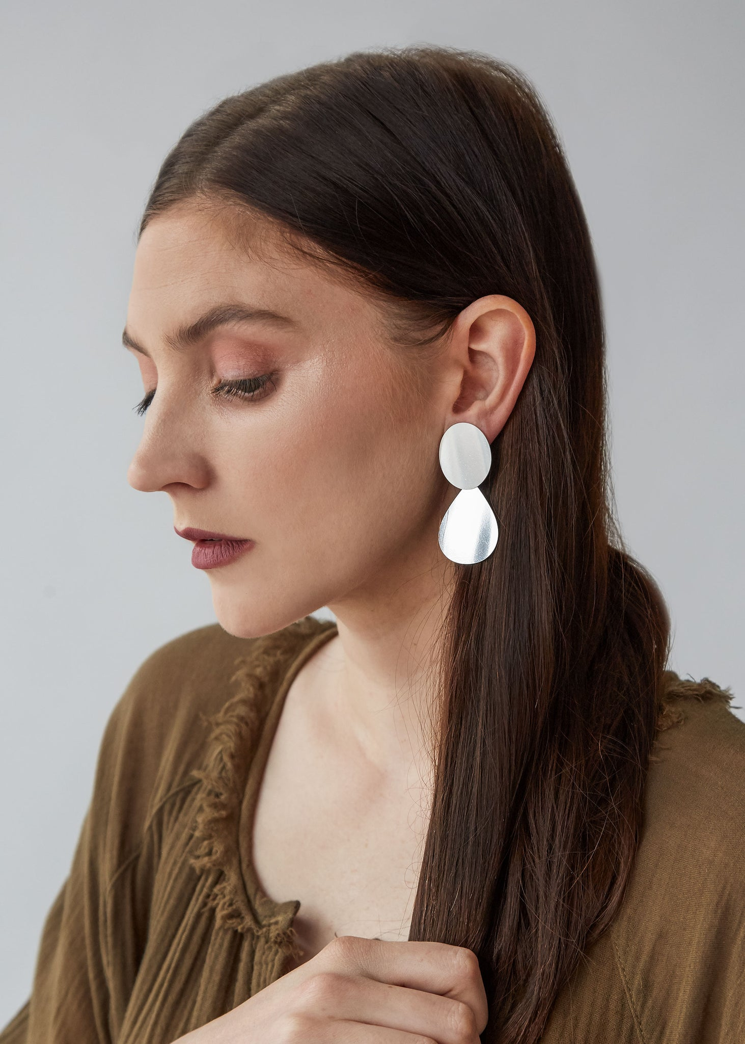 Cameo Earring in Sterling Silver