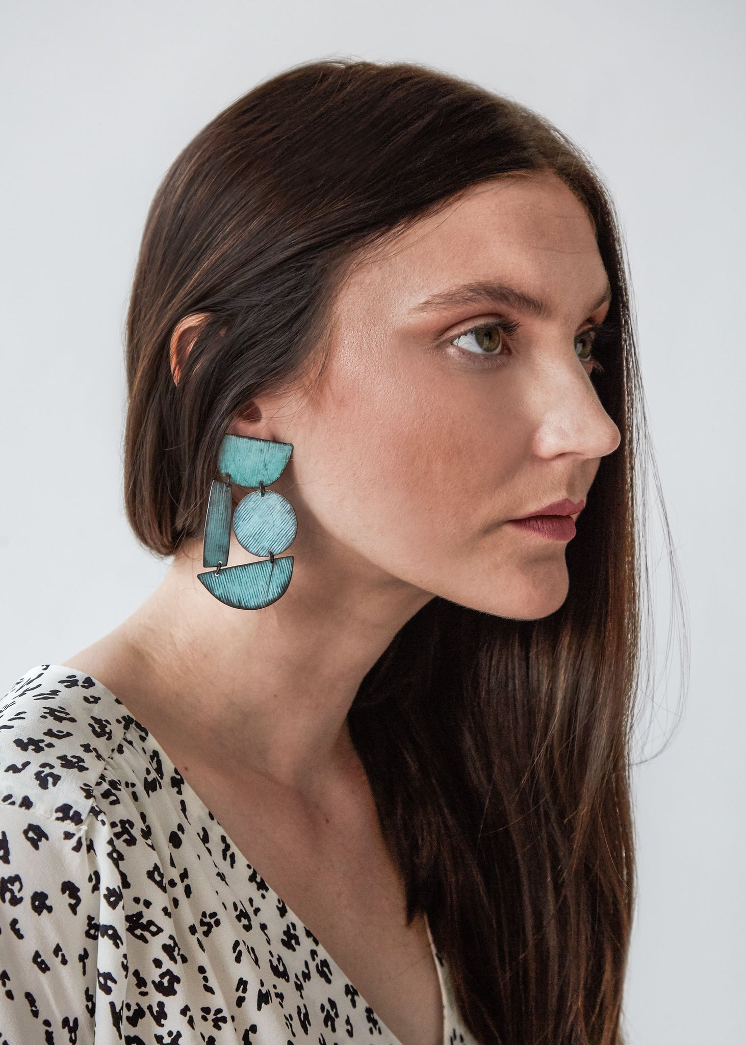 Masha Earring in Cyan Patina - SOLD OUT