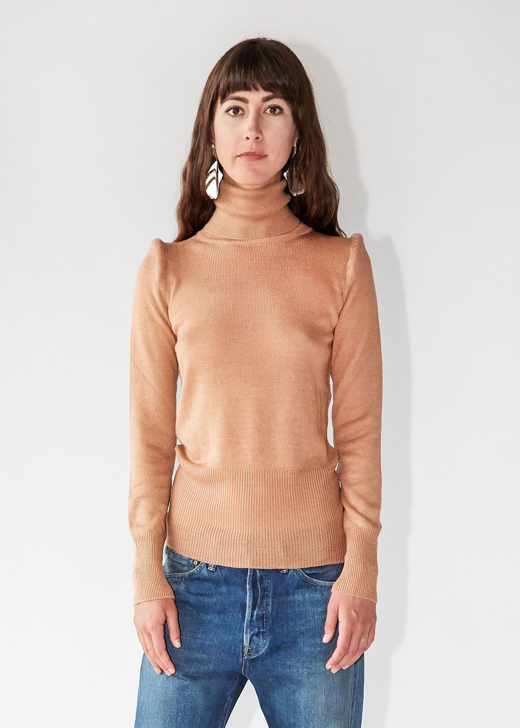 Carly Turtleneck in Nude