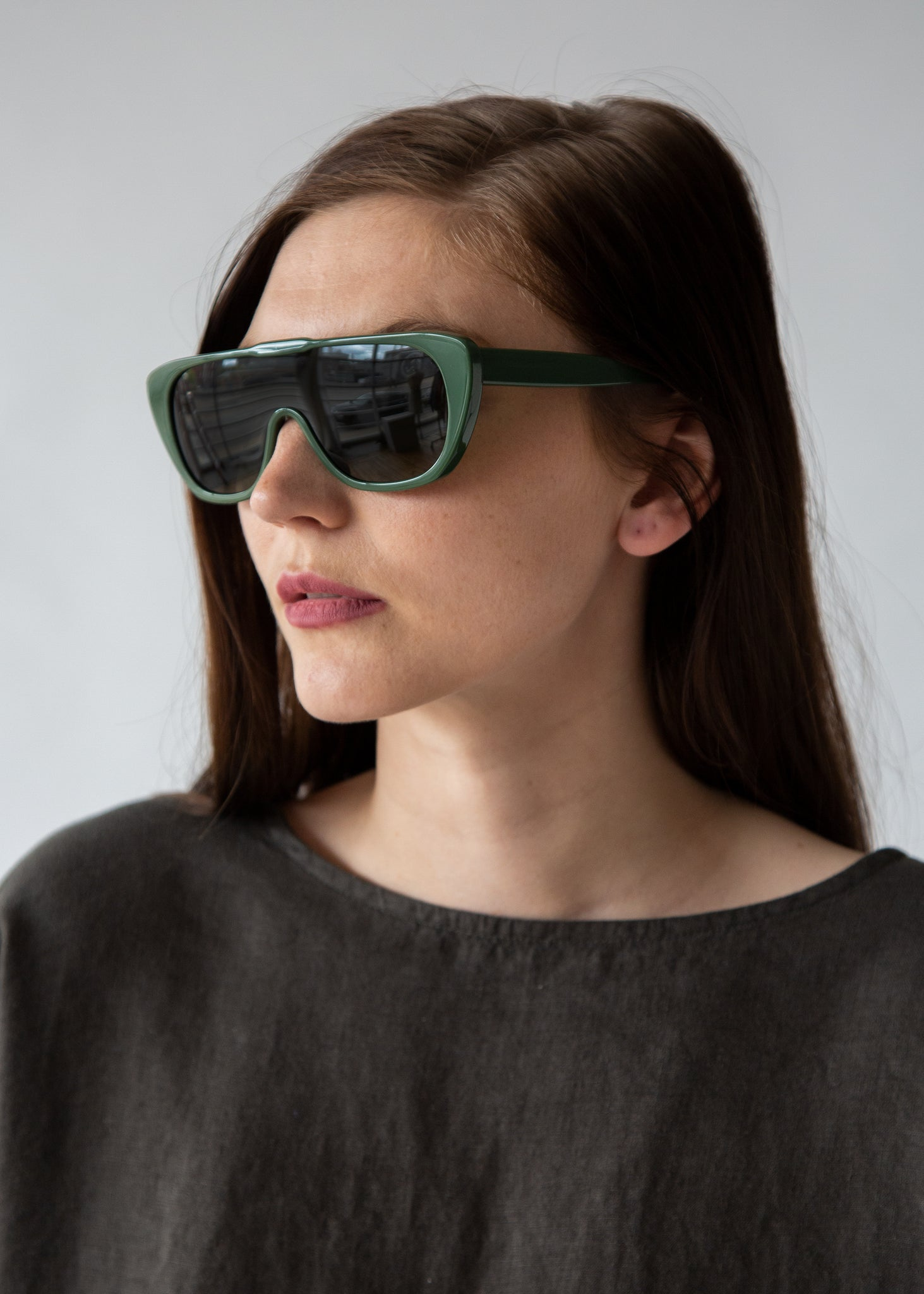Beryl Sunglasses in Sage Nori