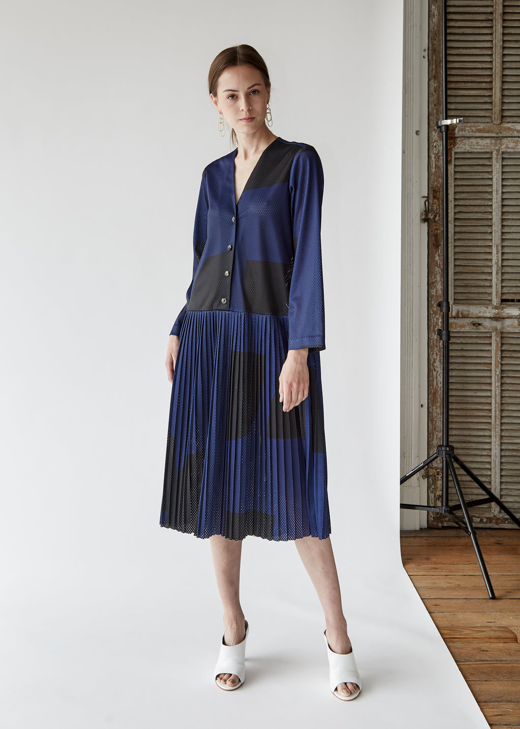 Daryl Dress in Navy/Black