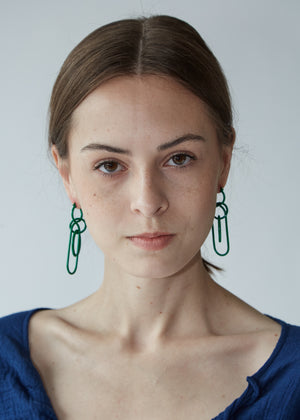 Fern Earrings in Green - SOLD OUT
