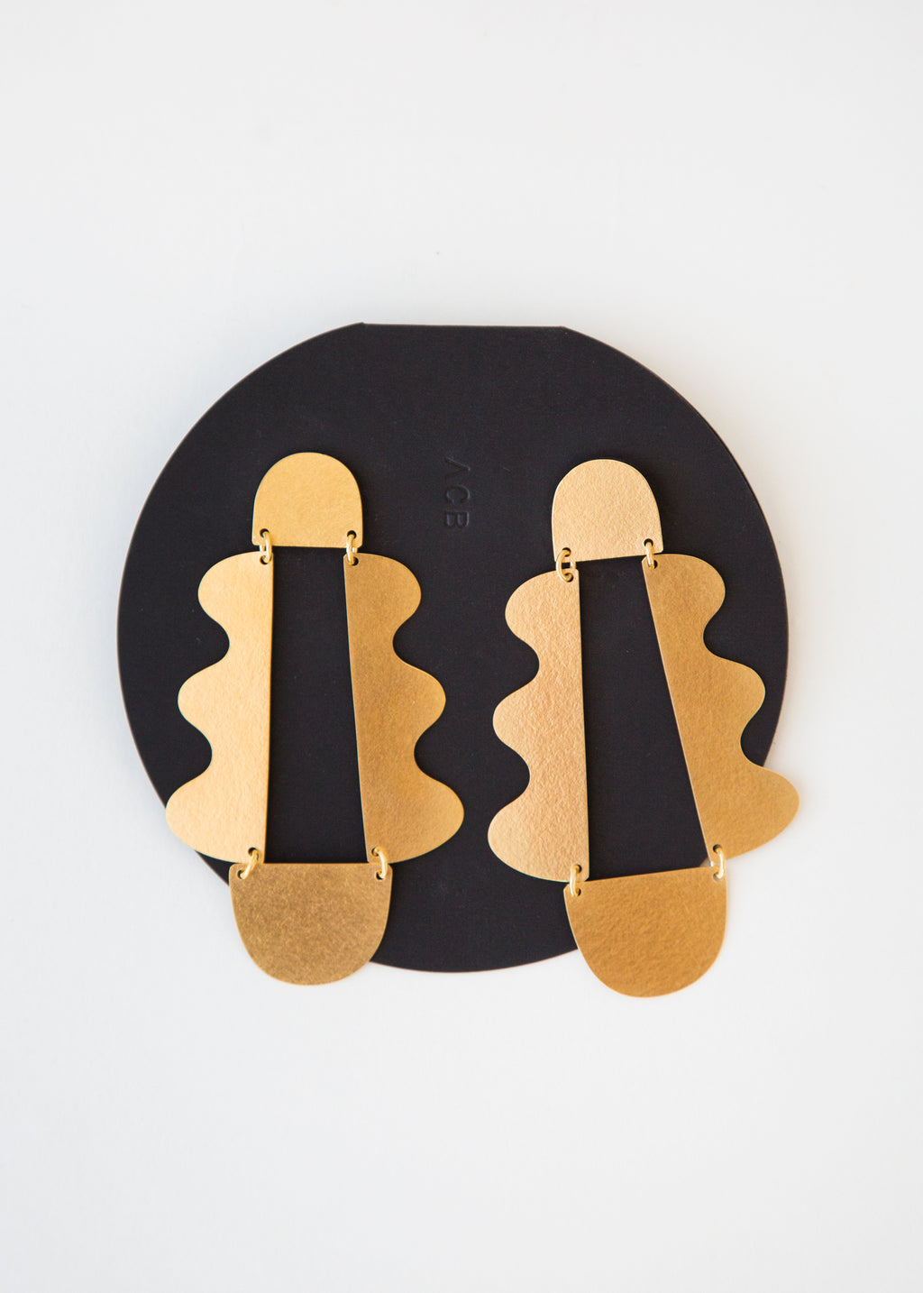 Annie Costello Brown Matisse Earring Gold - SOLD OUT