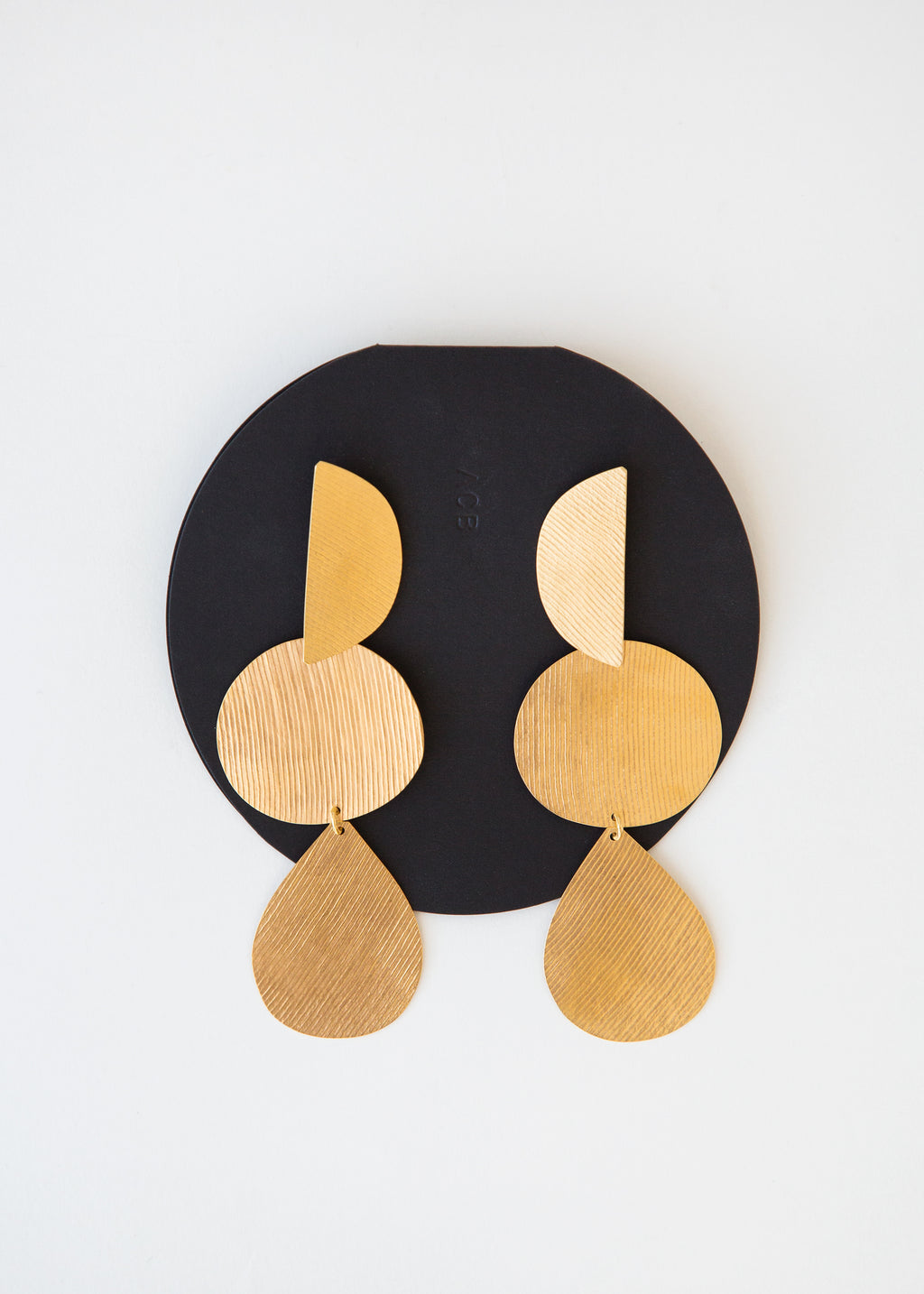 Annie Costello Brown Thea Earring Gold - SOLD OUT