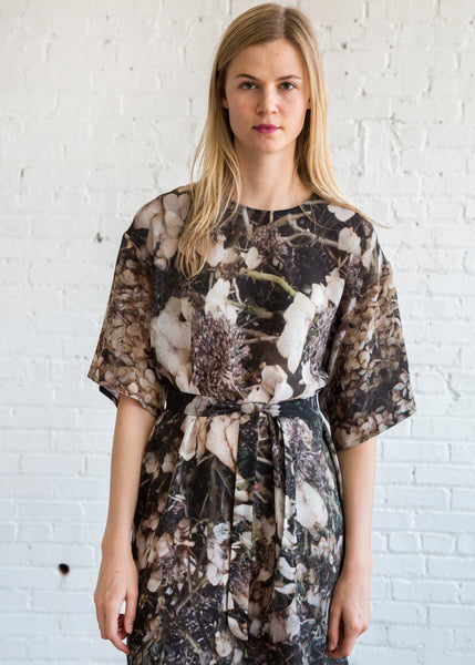Anntian T-Shirt Dress Print L+C Dry Flowers - SOLD OUT