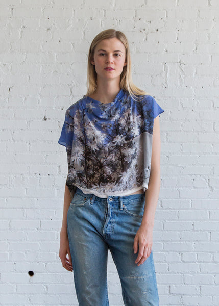 Anntian Asym Short Top Print Into the Sky