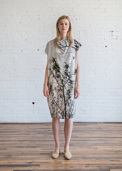 Anntian Dress w/ Elastic Band Print Magnolia - SOLD OUT