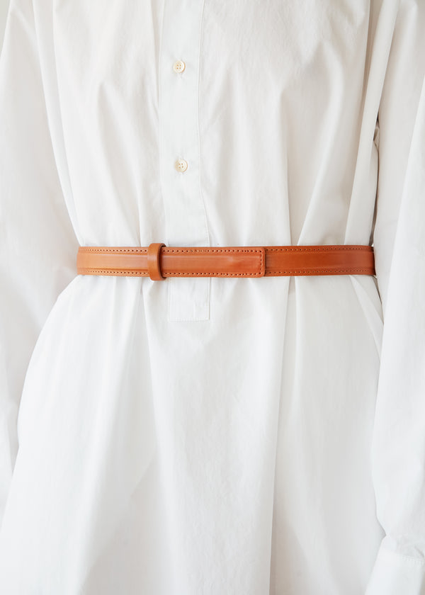 Leather Belt in Camel