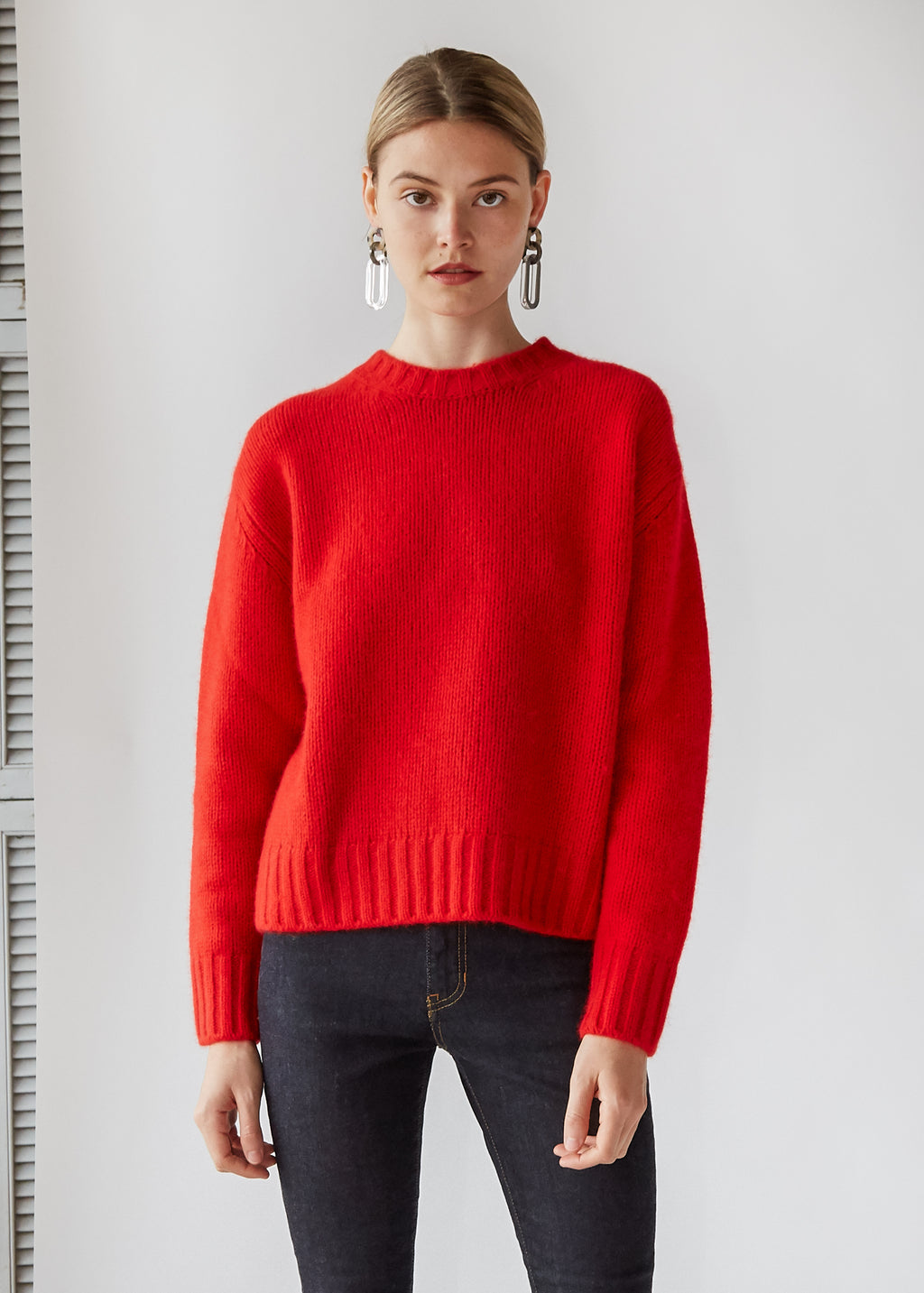 Knit Sweater in Red