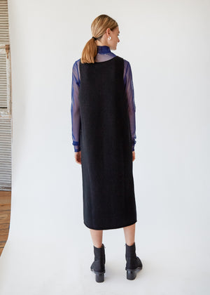 Wool/Cashmere Dress in Black