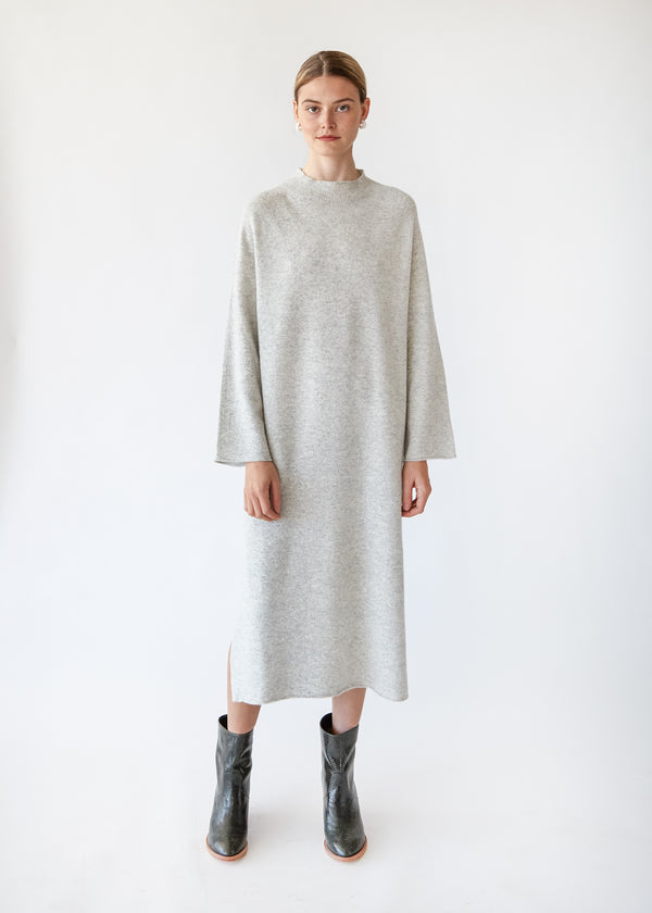 Wool Dress in Grey