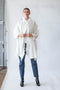 Haori Coat with Fringes in Cream