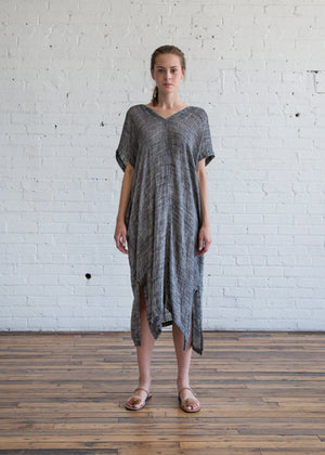 Black Crane Kaftan Dress Pepper - SOLD OUT