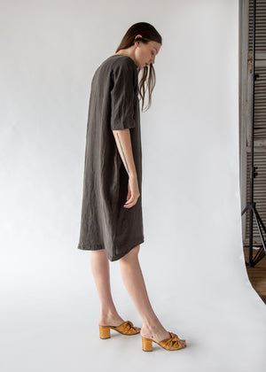 Scallion Dress in Charcoal - SOLD OUT