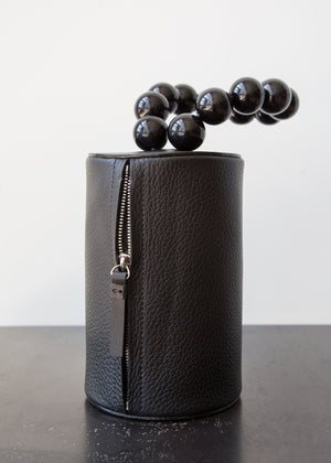 Building Block Cylinder Wristlet Black - SOLD OUT