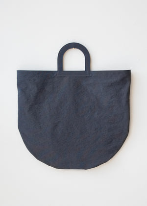 Building Block Stencil Tote Navy Crinkle - SOLD OUT