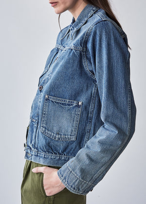 Denim Jacket in Light Distress