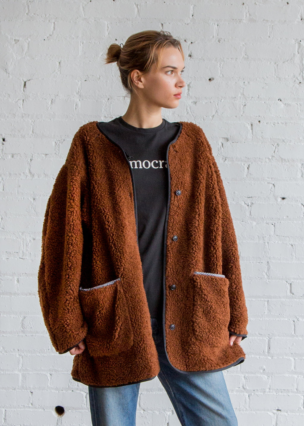 Creatures of Comfort Sherpa Coat Brown