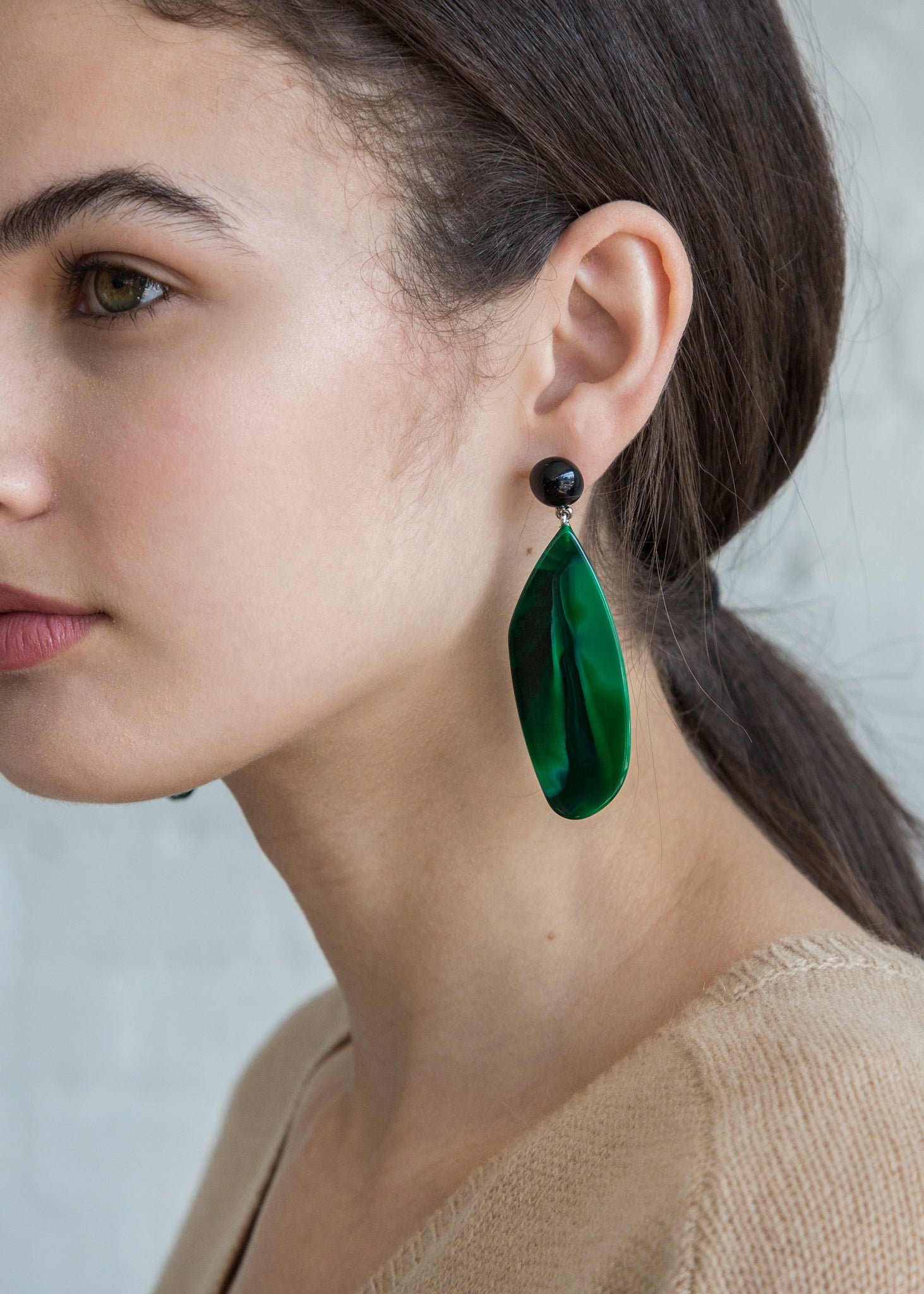 Splitleap Earrings in Malachite/Black - SOLD OUT