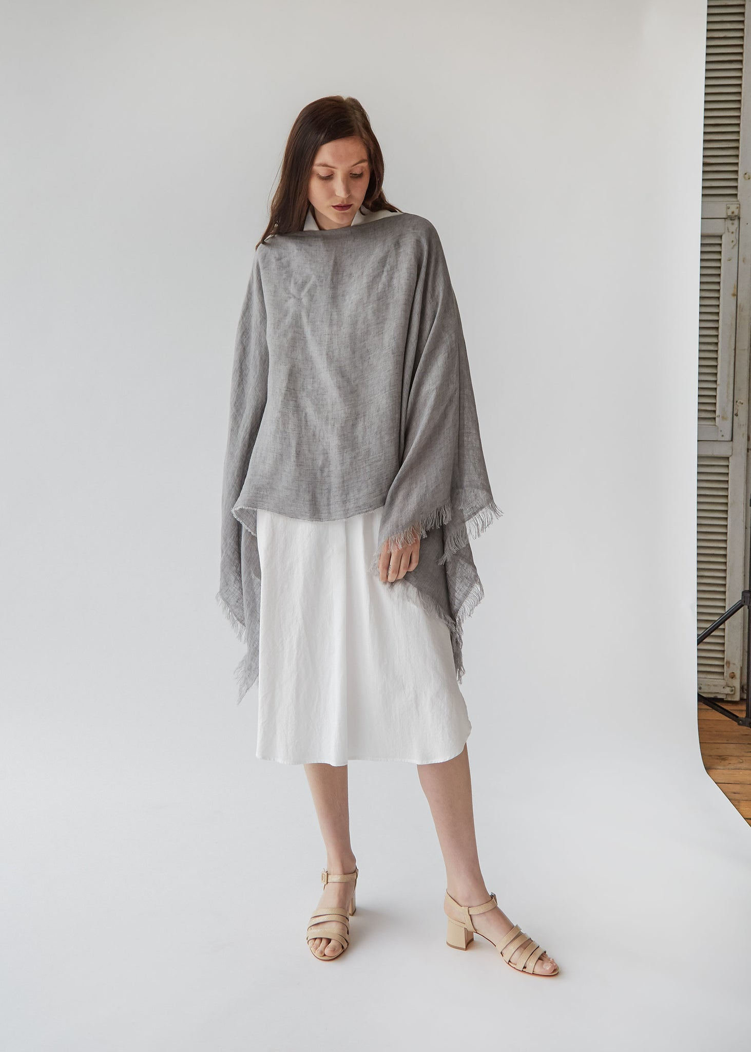 Light Poncho in Grey - SOLD OUT