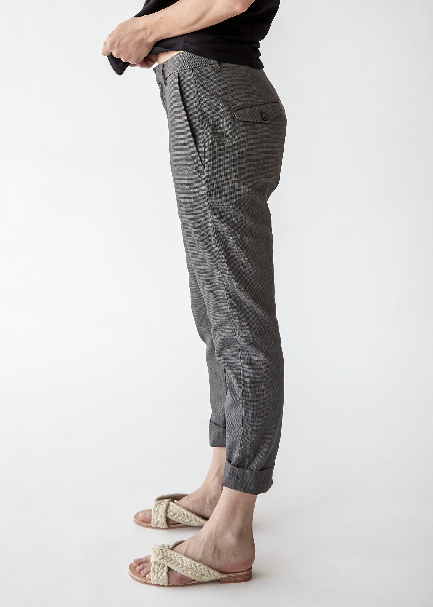 News Trouser in Grey Dogtooth - SOLD OUT